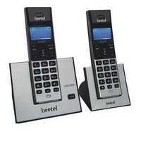 Beetel X77 Cordless Phone (Black-Silver)