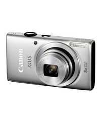 Canon IXUS 135 16MP Point-and-Shoot Digital Camera (Silver) with 4GB SDHC Card, Camera Case