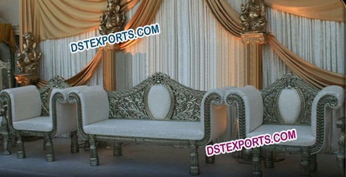 Asian Wedding Silver Carved Furniture