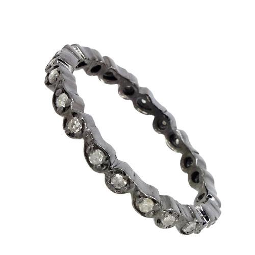 Silver Diamond Ring Jewelry