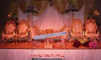 Asian Wedding Royal Gold Furniture Set