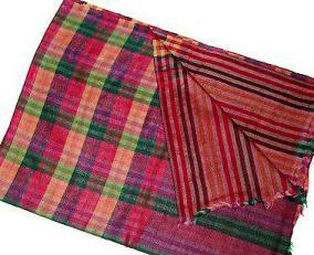 Semi Cashmere Check Reversible Shawls