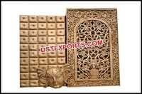 Indian Wedding Fiber carved Backdrop Panels
