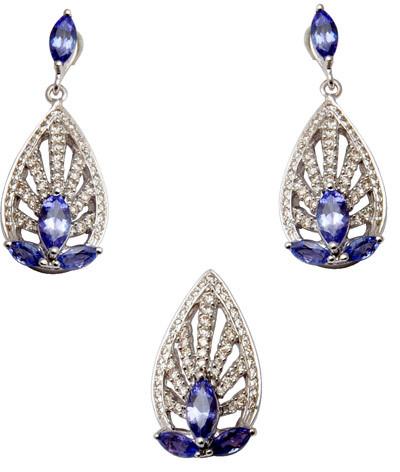 Pave Set Diamond And Gemstone Gold Pendant Jewelry