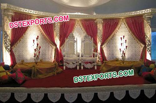 Muslim Wedding Stage Backdrop
