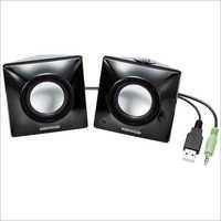 ELECOM MS-P03UBK Bevel Shaped USB Speaker/2W/2 ch (Black )