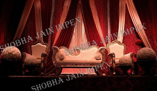 Wooden Wedding Stage Sofa