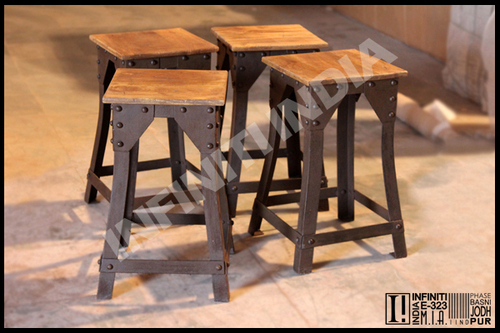 Vintage Rustic Finish Stool