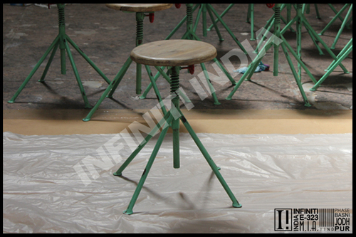 Industrial Spring Stool