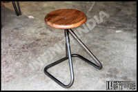 Vintage Industrial Pipe Stool
