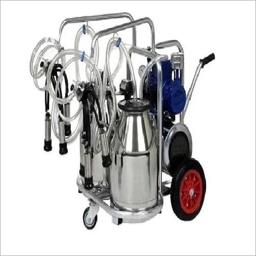 Piston Type Double Bucket cow Milking Machine