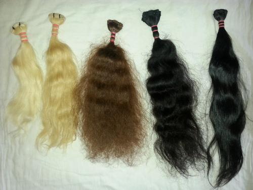 Wavy Human Hairs