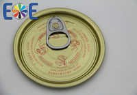 Kampuchea 214 tinplate easy open can lids supplier