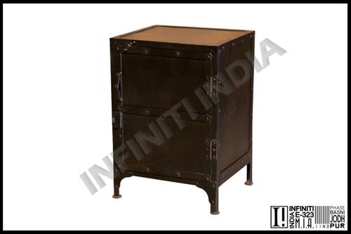 Vintage Industrial Bedside Table