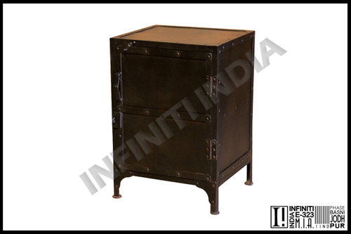 Vintage Industrial Bedside Table