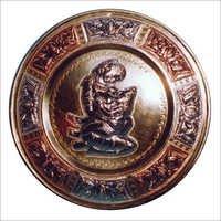 Tanjore Brass Art Plate