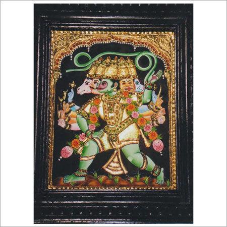 Lord Hanuman Tanjore Paintings