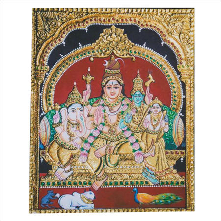 Shiva Parvati Tanjore Paintings