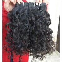 Temple deep curly weft hair extension