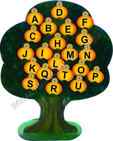 EDUCATIONAL ALPHABETS TREE-WOODEN