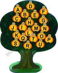 EDUCATIONAL ALPHABETS TREE-WOODEN
