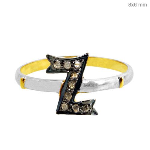 Gold Pave Diamond Ring Jewelry