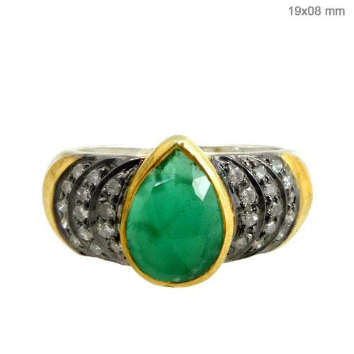 Emerald Diamond Gold Ring Jewelry