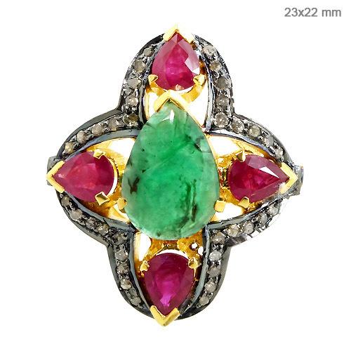 Precious Gemstone Diamond Ring