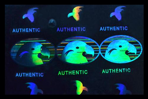 ID Card Transparent Hologram Overlay