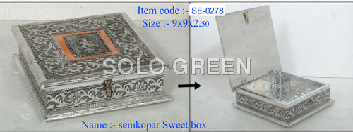 Decorative German Silver Dry Fruit Box