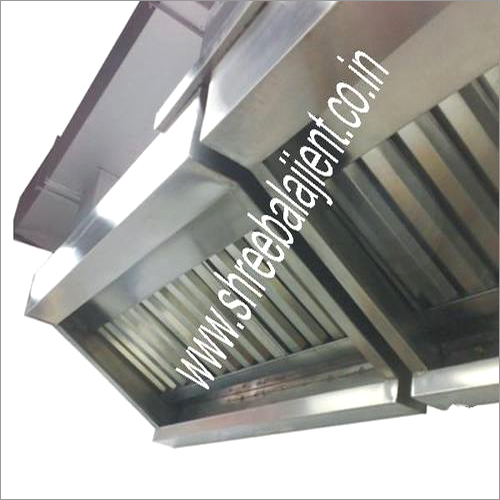 S.S. Exhaust Hood with G.I Ducting
