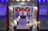 Fiber Crystal Decor Mandap Set