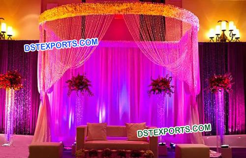 Wedding Cheap Crystal Mandap set