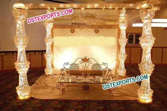 Crystal Gold  Mandap For Wedding