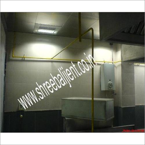 LPG Gas Pipe Line In Laboratory