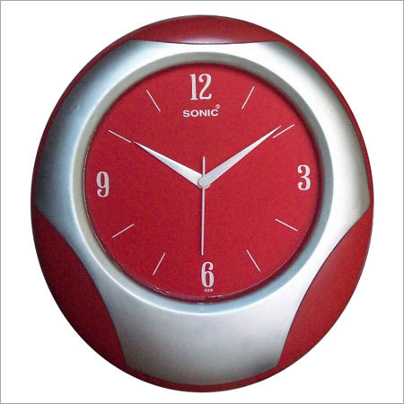 Red Dial Wall Clocks
