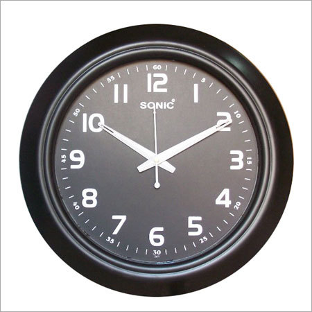 Round Black Wall Clocks