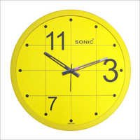 Yellow Wall Clocks