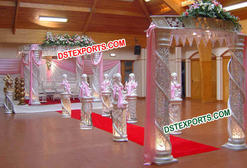 Modern Wedding Crystal Mandap