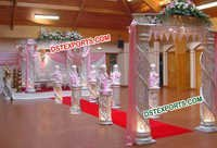 Modern Wedding Crystal Mandap