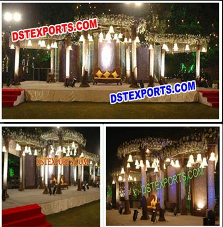 Beautiful Wedding Crystal  Mandap With Lights