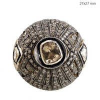 Pave Diamond Gold Ring Jewelry