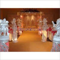 Fiber Crystal  Mandap With  Lights