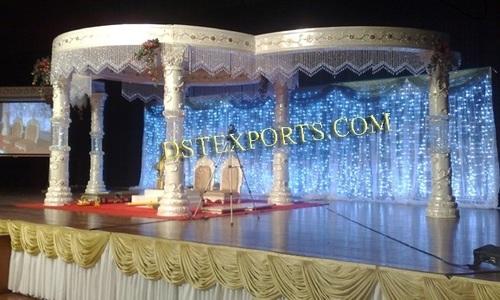 Latest Wedding Silver Crystal  Mandap