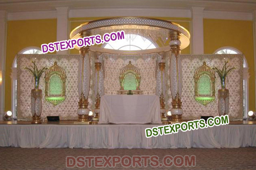 Crystal Wedding Jhrokha Mandap Set