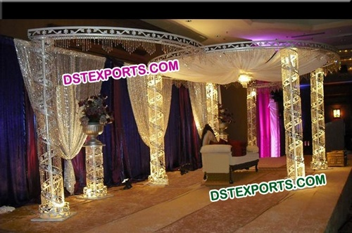 Crystal Wedding Mandap With lights