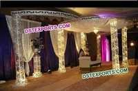 Crystal Wedding Mandap With lights