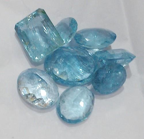 Aquamarine Cut Stones