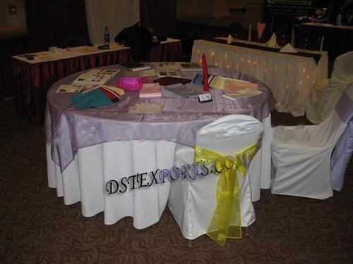 SATIN SASHAS AND TABLE OVERLAYS