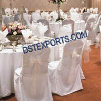 BANQUET HALL WHITE CHAIR COVER